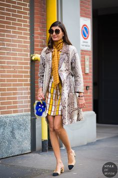 Giovanna Battaglia Street Style Street Fashion Streetsnaps by STYLEDUMONDE…