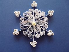 Quilling quilled snowflake