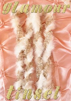 Christmas Home Glamour Style » My blog. This is a feather boa twisted with gold tinsel. That's it!