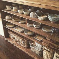 見せる収納♪和食器が映える食器棚DIY