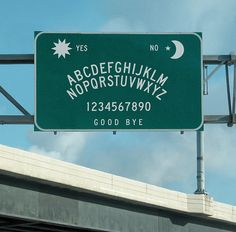Ouija Board Road Sign, San Francisco, California