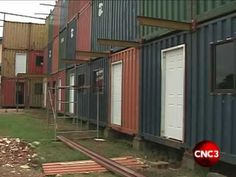 an entire containerplex...this could be a solution for the new housing crisis here in the US.