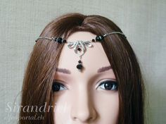 Black forehead jewelry for elves  LARP  Arwen  by elfenportal