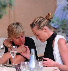 Ellen Degeneres And Portia, Ellen And Portia, Portia De Rossi, Dynamic Duos, Lil Baby, Cute, Celebrity, Babies, Photos
