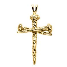 Jewels By Lux 14K Yellow Gold 28x18mm Cross Pendant