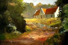 Artwork of Tony de Freitas exhibited at Robertson Art Gallery. Original art of more than 60 top South African Artists - Since Impressionist Art, Impressionism, Farmhouse Artwork, Africa Painting, Tree Artwork, Acrylic Artwork, South African Artists, Landscape Artwork, Painting Still Life