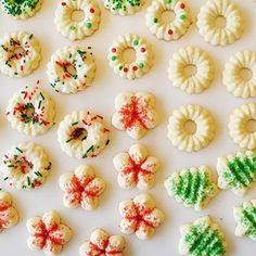 Best Ever Spritz Cookies  - has the recipe for a rice flour +npotato starch + tapioca + xanthan gum. (Gluten-Free Recipe)