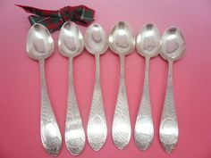 6 Scottish Antique Silver Teaspoons ACORN Design c.1800 William Robertson