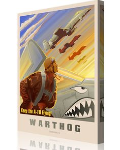 Share Squadron Posters for a 10% off coupon! Keep the A-10 Flying #http://www.pinterest.com/squadronposters/