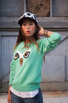 Kenzo x New Era Cap  Owl Sweater  Lionette Earrings
