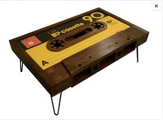 SALE PRICE £399.97. Was £599.99.  This is a handmade coffee table designed and made in the shape of an old cassette tape. It is made using the finest