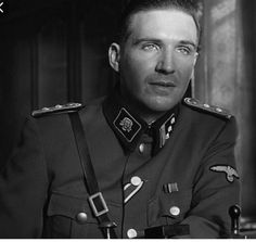 """There's just something about his photo of Ralph Fiennes from """"Schindler's List"""" that illustrates my character, Max Haas, to perfection. Ralph Fiennes, Forrest Gump, Amon Goeth, Schindlers Liste, Iconic Movie Characters, The English Patient, Home Guard, Best Supporting Actor, Steven Spielberg"""