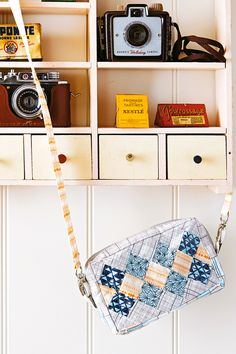 Whip up a snappy patchwork camera bag. #DIY