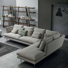 LARS Sofa with chaise longue by Bonaldo design Giuseppe Viganò Sofa Design, Canapé Design, Interior Design, Living Room Modern, Living Room Sofa, Living Room Designs, Home Deco, Sofa Furniture, Furniture Design