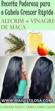 Aplique essa receita caseira no seu couro cabeludo e seu cabelo irá crescer super rápido e irá diminuir a queda.