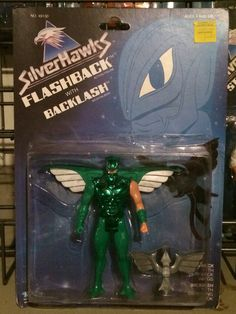 Flashback with Backlash from the SilverHawks line of action figures from Kenner. These are part of my personal collection of toys.