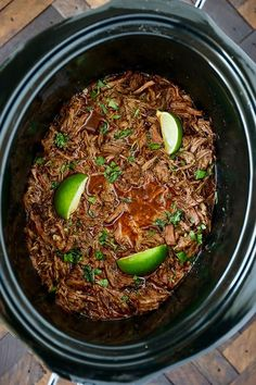 Slow Cooker Barbacoa with Vegetable Oil, Boneless Chuck Roast, Low Sodium Beef Broth, Kosher Salt, C Authentic Mexican Recipes, Mexican Food Recipes, Slow Cooker Recipes, Cooking Recipes, Beef Birria Recipe Slow Cooker, Beef In Slow Cooker, Meal Recipes, Healthy Recipes, Slow Cooker Barbacoa