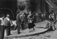 """Throughout the 1940s, 1950s and beyond, documentary photographer Ruth Orkin became widely known for traveling great distances, capturing moods and waiting for just the right shot. One of her most famous photos -- """"American Girl in Italy,"""" Florence, 1951 -- is pictured here. Keep clicking for additional photos Orkin took of Ninalee Craig during a two-hour span on the same day. (© 1952, 1980 Ruth Orkin / Courtesy of Stephen Bulger Gallery) Share"""