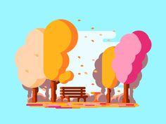 Windy Park by Razvan Vezeteu #Design Popular #Dribbble #shots