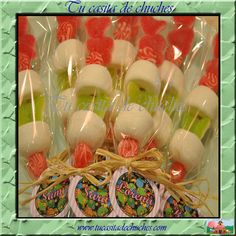 Brocheta de boda o cualquier otro evento, disponible en www.tucasitadechuches.com