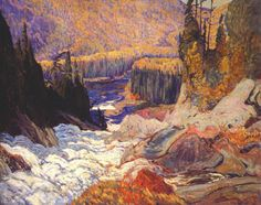 Exhibition: 'Painting Canada: Tom Thomson and the Group of Seven' at the Dulwich Picture Gallery, London – Art Blart Tom Thomson, Emily Carr, Canada Landscape, Landscape Art, Landscape Paintings, Oil Paintings, Landscape Drawings, Acrylic Paintings, Group Of Seven Artists