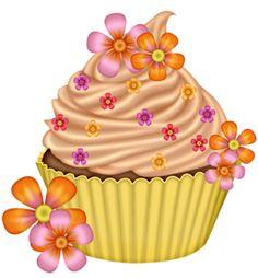 Cupcake for my friends Cupcake Drawing, Cupcake Art, Cupcake Painting, Cupcake Pictures, Cupcake Images, Ice Cream Cupcakes, Love Cupcakes, Art Cupcakes, Cupcake Quotes
