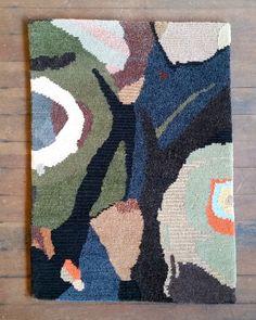 Black Wood rug colour test. Stephanie Aitken, Breathing Machines - FIELD Contemporary