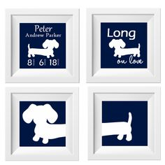 Artwork Set | Navy Dachshunds