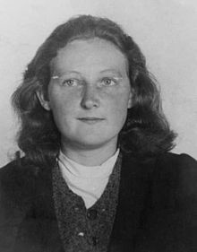 Cato Bontjes van Beek -she was guillotined in August 1943 for her resistance activities in the red orchestra, so named by the gestapo.