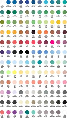 copic markers color chart | Promarkers Colour Chart