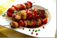 Kebab of chicken breasts