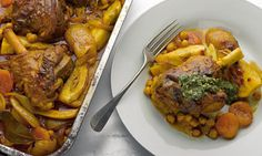 Yotam Ottolenghi's recipes for lamb shanks with chickpeas, fennel and apricots, plus beetroot, carrot and red cabbage slaw