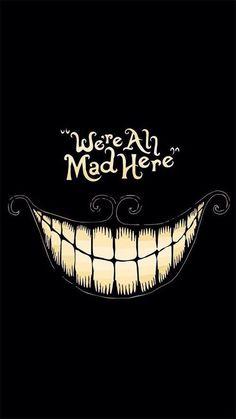 Imagen de mad, alice in wonderland, and smile