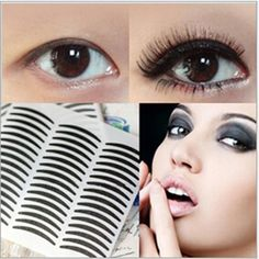 High Quality 72Pairs Black Narrow Transparant Double Eyelid Tape Eye Sticker Makeup Tools Accessories