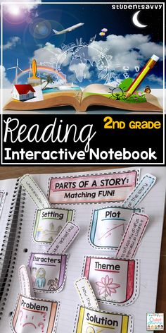 Reading Interactive Notebook for 2nd Grade - Includes cover and activities for students during independent reading time!