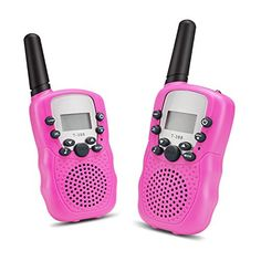 Walkie Talkies for Kids 22 Channel FRSGMRS Walkie Talkies with Flashlight 2 Way Radio 3 Miles MAX 5 Miles Open Field Handheld Mini Walkie Talkies for Outdoor Activities Pack Pink ** Details can be found by clicking on the image. Kids Electronics, Open Field, 2 Way, Gps Navigation, Walkie Talkie, Girl Room, Flashlight, Outdoor Activities, Hold On