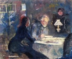 At Supper - Edvard Munch - 1883-1884