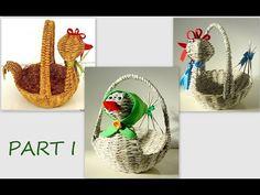 Sun Paper, Tatting Jewelry, Easter Baskets, Basket Weaving, Straw Bag, Origami, Blog, Recycling, Diy Creative Ideas