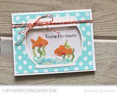You're Fin-tastic, Polka Dot Background, Fishbowl Die-namics - Kimberly Crawford  #mftstamps