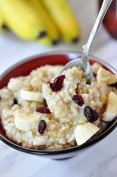 super easy Overnight Steel Cut Oats. 4 cups water 1 cup oats. can swap out 1/2 of the oats with quinoa. boil for 1 minute the night before and leave sitting out until morning. reheat and top with desired yummy stuff.