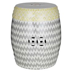 Add a decorative tribal touch to your living space with the Ikat Stool from Amalfi.