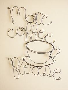 More Coffee Please wire art by Jennifer Swift