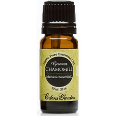 Aromatherapists often use Chamomile German to treat skin irritations because of its soothing and calming characteristics. It provides soothing and cleansing benefits useful for burns, acne, blisters, inflamed wounds, dermatitis, eczema, rashes and wounds.