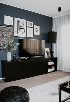 24 Simple and Stylish Scandinavian Living Room Decorating Ideas Minimalist Living Room DECORATING Ideas Living livingroomdecor Room Scandinavian Simple Stylish Living Room Tv, Living Room Interior, Apartment Living, Home And Living, Tv On Wall Ideas Living Room, Simple Living, Modern Tv Wall, Tv Wall Decor, Wall Tv