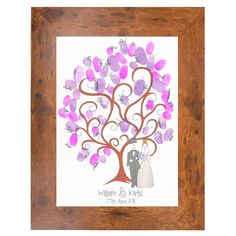 Guest Art Fingerprinting Kit - Wedded Bliss Tree - Large Framed, £80.00