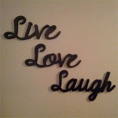 Live Laugh Love wooden wall words Live Laugh by LettersbyLeslie, $70.00