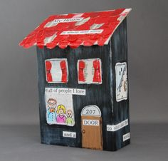 that artist woman: Wood Houses : Art and Poetry Project