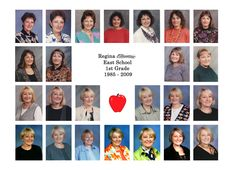 cute for teacher retirement or even a high school graduation-do it with school pic from every year