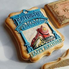 "One more sneak peek! Another of the cookies headed down to Utah, USA for a Harry Potter theme photo shoot with @psperfectserendipity! Extremely excited to see Pattys vision come to life! @_jk.rowling I love the Harry Potter series and very much loved making these tribute cookies. 5""x4"" cookie cutter from @cookiecuttersbydesign Many layers of royal icing, handpainted details. #potterhead #edibleart #harrypotter #jkrowling #frostmebeautiful #handpainted #handpaintedcookies #handmade…"