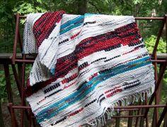 Southwestern Look Handloomed Rug  by pinoakstudio on Etsy, $54.00